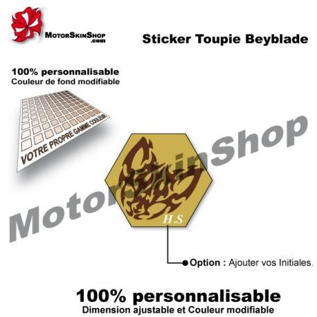 Sticker toupie Beyblade Beat Lynx
