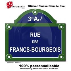 Sticker Plaque de Rue Paris arrondissement