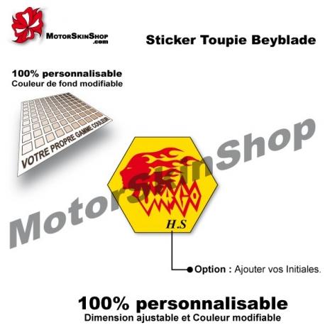 Sticker toupie Beyblade Earth Virgo