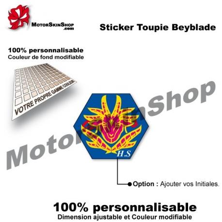 Sticker toupie Beyblade Fury Capricorne