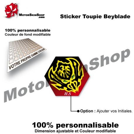 Sticker toupie Beyblade Vari Ares DD