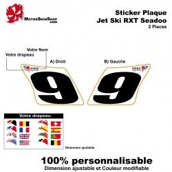 Sticker plaque numéro RXT 2 places