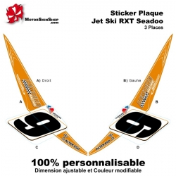 Sticker avant RXT Seadoo 3 places