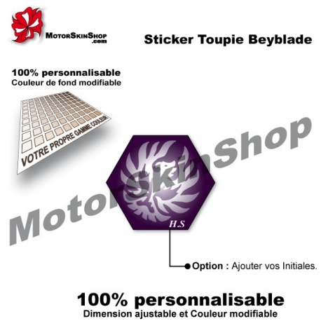 Sticker toupie Beyblade Jad Jupiter