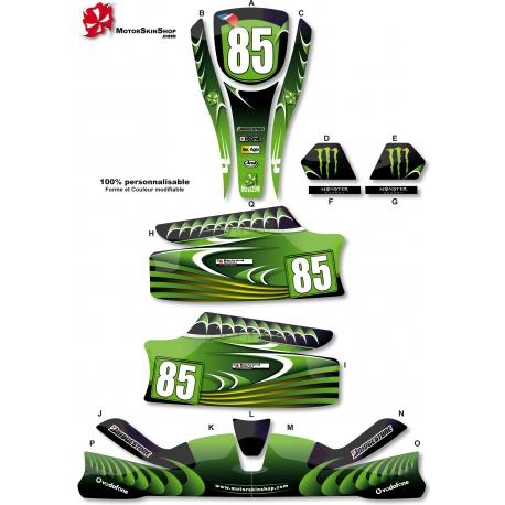 Kit déco Karting KG Unico Vert