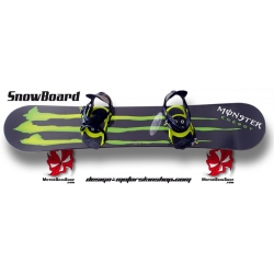 Sticker Snowboard Monster Energy personnalisable