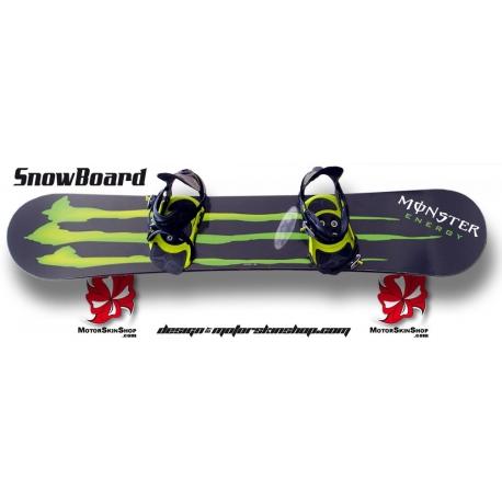 Sticker SnowBoard Monster Energy personnalisable