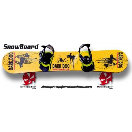 Sticker SnowBoard Dark Dog personnalisable