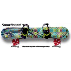 Sticker SnowBoard fille et couleur personnalisable