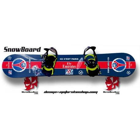 Sticker SnowBoard PSG personnalisable