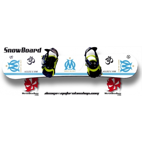 Sticker SnowBoard OM personnalisable