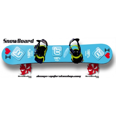 Sticker SnowBoard Twitter personnalisable
