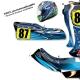 kit déco karting intrepid Bleu