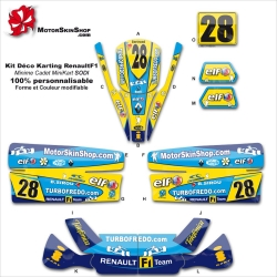 Kit déco Karting minime cadet Renault F1