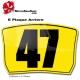 Plaque Numéro arrière Karting