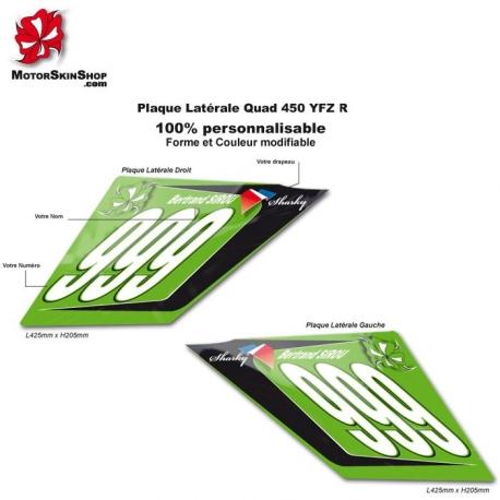 Plaque Numéro Latérale Quad YFZ R