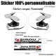 Sticker Casque nominatif Moto Quad Jet-Ski
