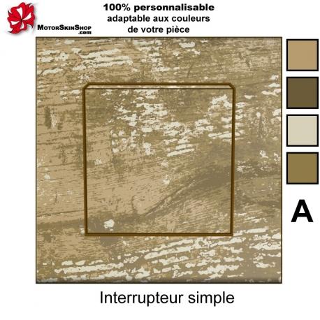 Sticker prise interrupteur Bois naturel personnalisable universel