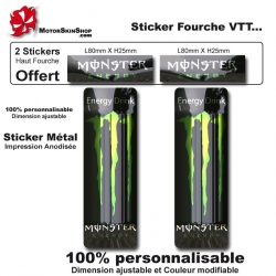 Sticker fourche vélo VTT Métal Monster Energy