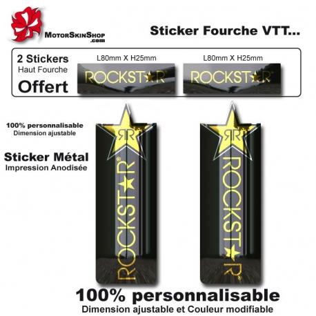 Sticker fourche vélo VTT Métal RockStar