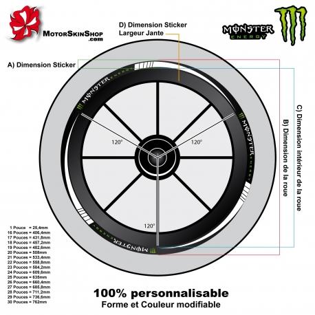 Sticker jante Moto Sportive Monster Energy