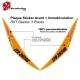 Sticker Décoration + Plaque immatriculation Jet SKI personnalisable