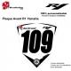 Sticker Plaque numéro course R1 Yamaha