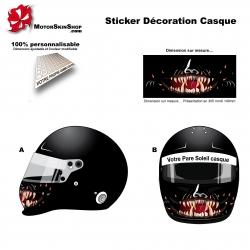 Sticker casque Machoire Monstre mentonnière