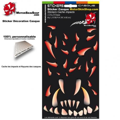Pochette Sticker casque Cache impact