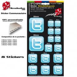 Planche Sticker Twitter autocollant