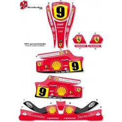 Kit déco Karting KG Unico F1 Ferrari