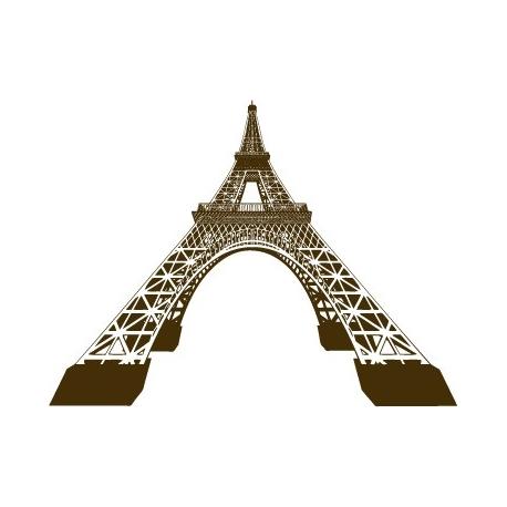 Tour Eiffel 3D Vecteur déformée au trait