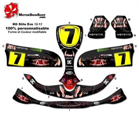 Kit déco Karting Stilo Evo 12-13 Monster Motorskin