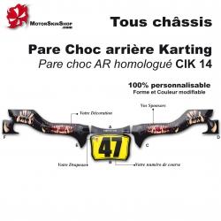 Kit Déco CIK 14 Pare choc arrière Karting Monster Motorskin