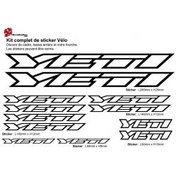 Sticker cadre vélo Kit Yeti