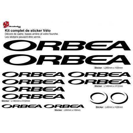 Sticker cadre vélo Kit Orbea