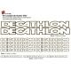 Sticker cadre vélo Kit Decathlon