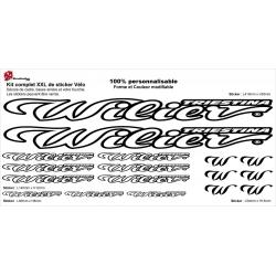 Sticker cadre vélo Wilier XXL