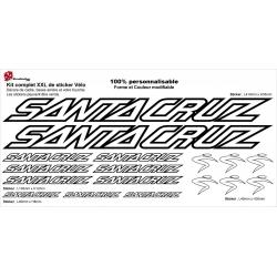 Sticker cadre vélo Santa Cruz XXL