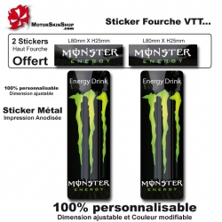 Sticker fourche vélo VTT Monster Energy