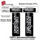 Sticker fourche vélo VTT Fox