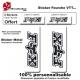 Sticker fourche vélo VTT Fox Blanc