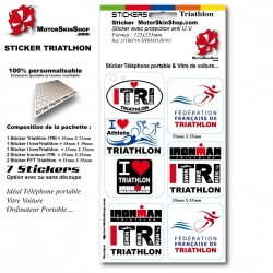 Sticker Triathlon Ironman personnalisable