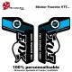 Sticker fourche vélo Fox VTT Bleu