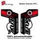 Sticker fourche vélo Fox VTT Rouge