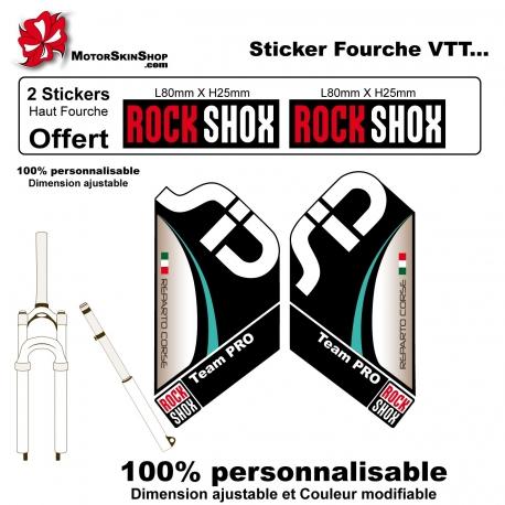 Sticker fourche SID XX Dual ROCKSHOX