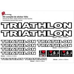 Sticker cadre vélo Triathlon Ironman