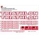 Sticker cadre vélo Triathlon