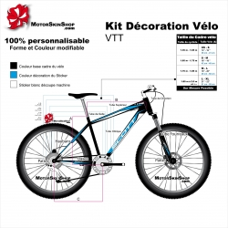 Sticker cadre VTT Scott Sticker complet
