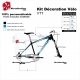 Kit décoration Vélo VTT Scott Sticker complet